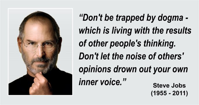 Innovation leadership - Steve Jobs on Dogma